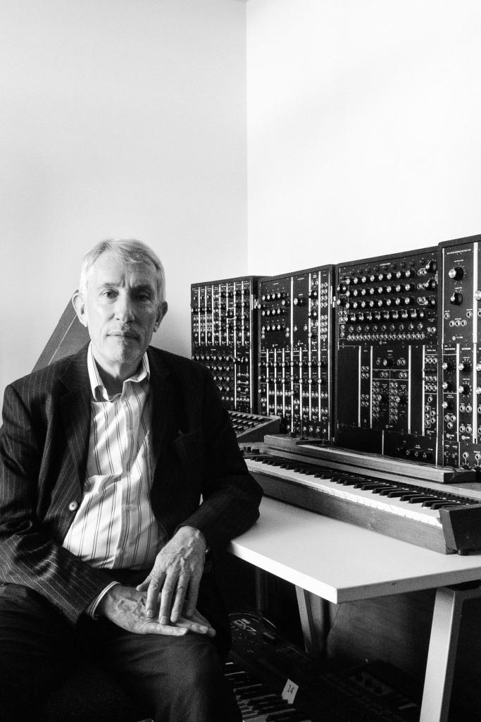 Stephen Whittington with the Moog. Photo: Walter Marsh