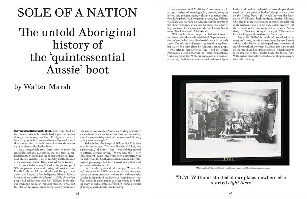 Sole of a nation, The Monthly
